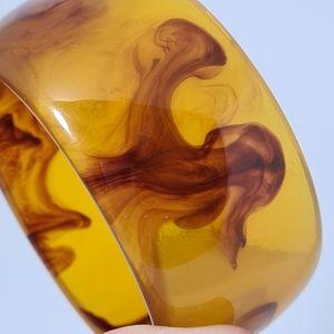Brown Yellow Amber Bracelet Bangle